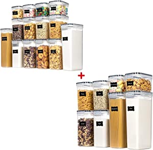 Chefstory 14 PCS Airtight Food Storage Containers and Chefstory 8 PCS Airtight Food Storage Containers Bundle