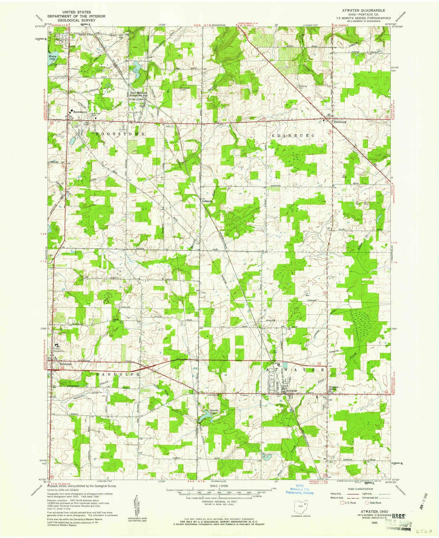Amazon.: YellowMaps Atwater OH topo map, 1:24000 Scale, 7.5 X