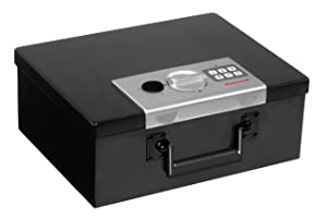 Honeywell Safes & Door Locks - 6108 Fire Resistant Steel Security Safe Box with Digital Lock, 0.26-Cubic Feet, Black