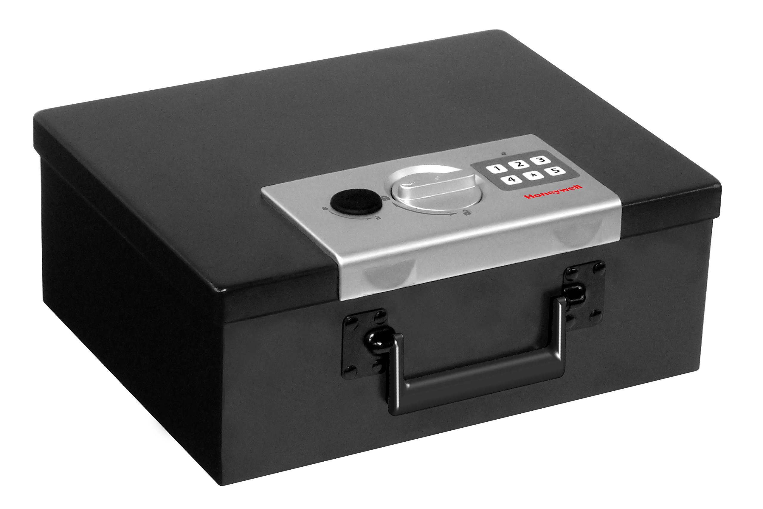 HONEYWELL - 6108 Fire Resistant Steel Security Safe Box with Digital Lock, 0.26-Cubic Feet, Black