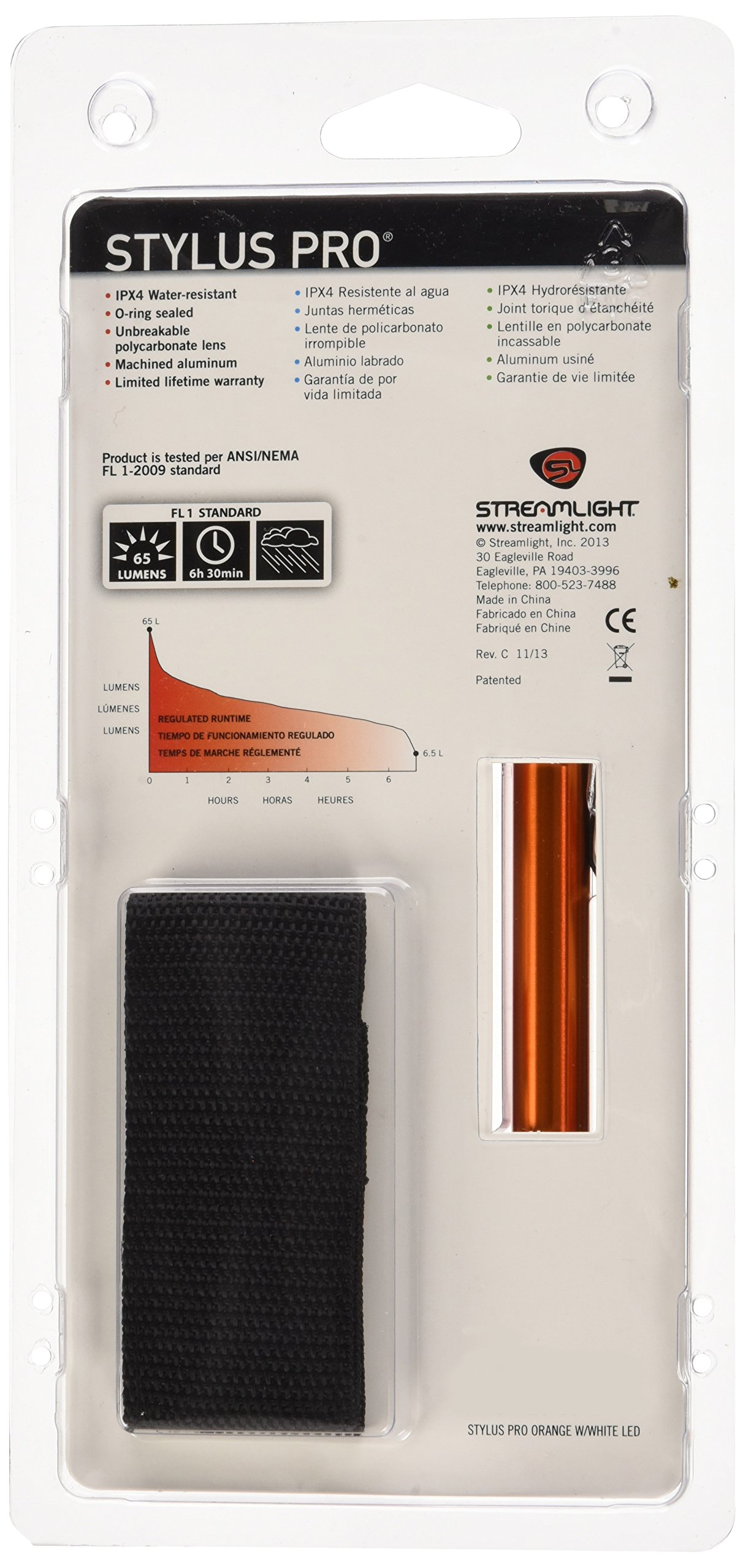 Streamlight (66128) Stylus Pro Pen Light, Orange by Streamlight