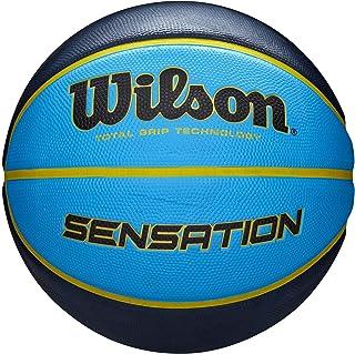 Wilson Sensation Ballon de Basket Taille 7[Bleu/Noir]
