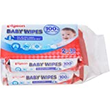 Pigeon Baby Wipes (Water Base), 30ct (Pack of 2) (Packaging may vary)