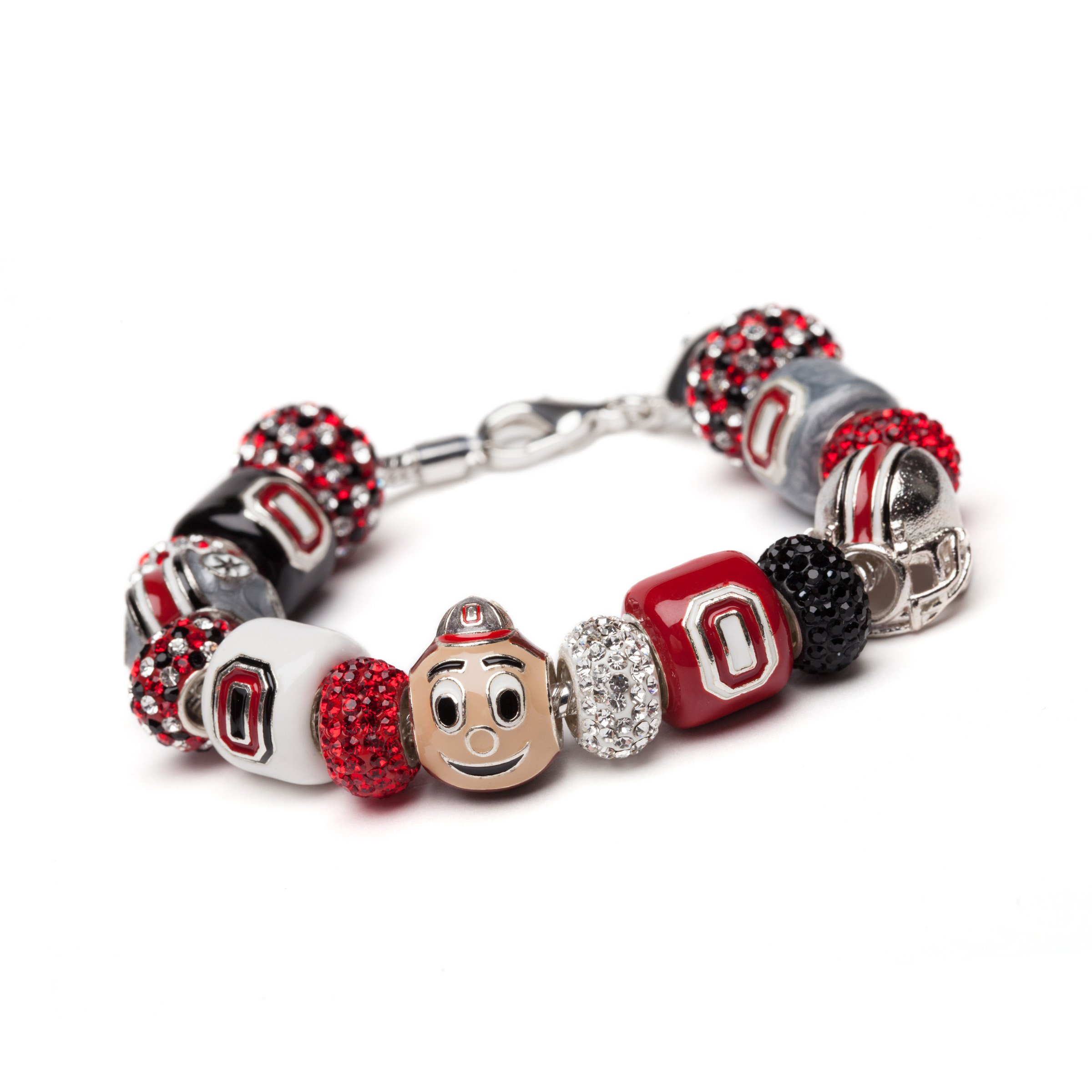 Brutus Buckeye Charm Bracelet | Officially Licensed Ohio State Jewelry