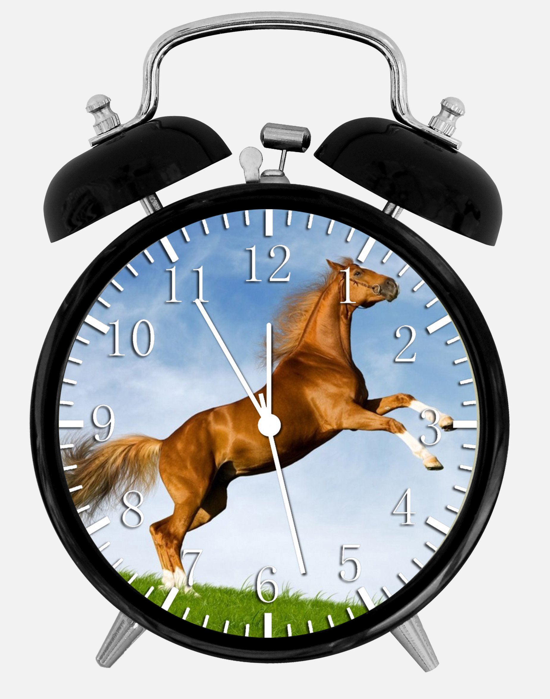 Beautiful Horse Alarm Desk Clock 3.75'' Home Office Decor Y93 Nice For Gifts