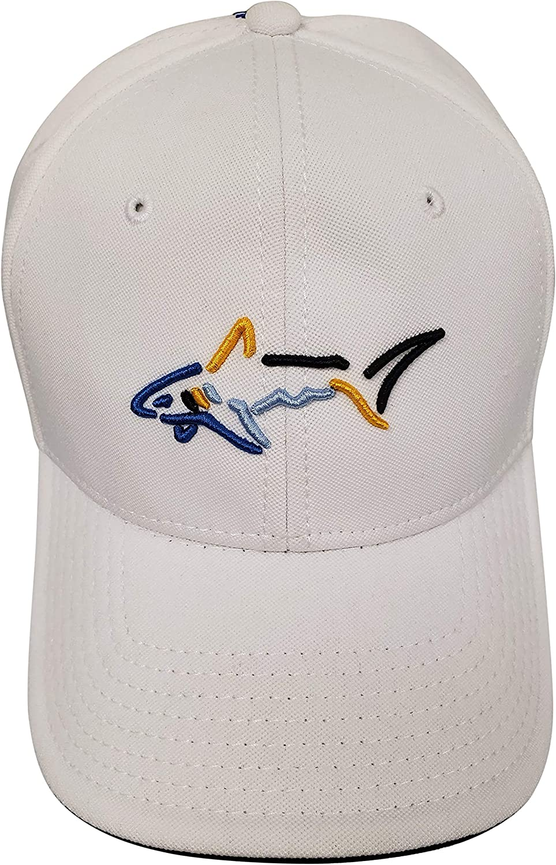 Greg Norman Men's Racer Shark Logo Golf Cap