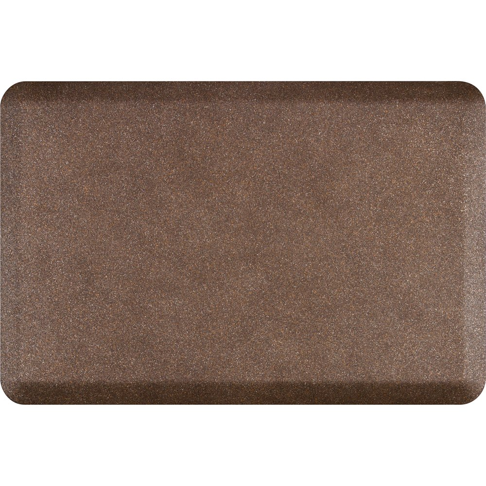 WellnessMats Anti-Fatigue 36 Inch by 24 Inch Granite Motif Kitchen Mat, Copper by WellnessMats