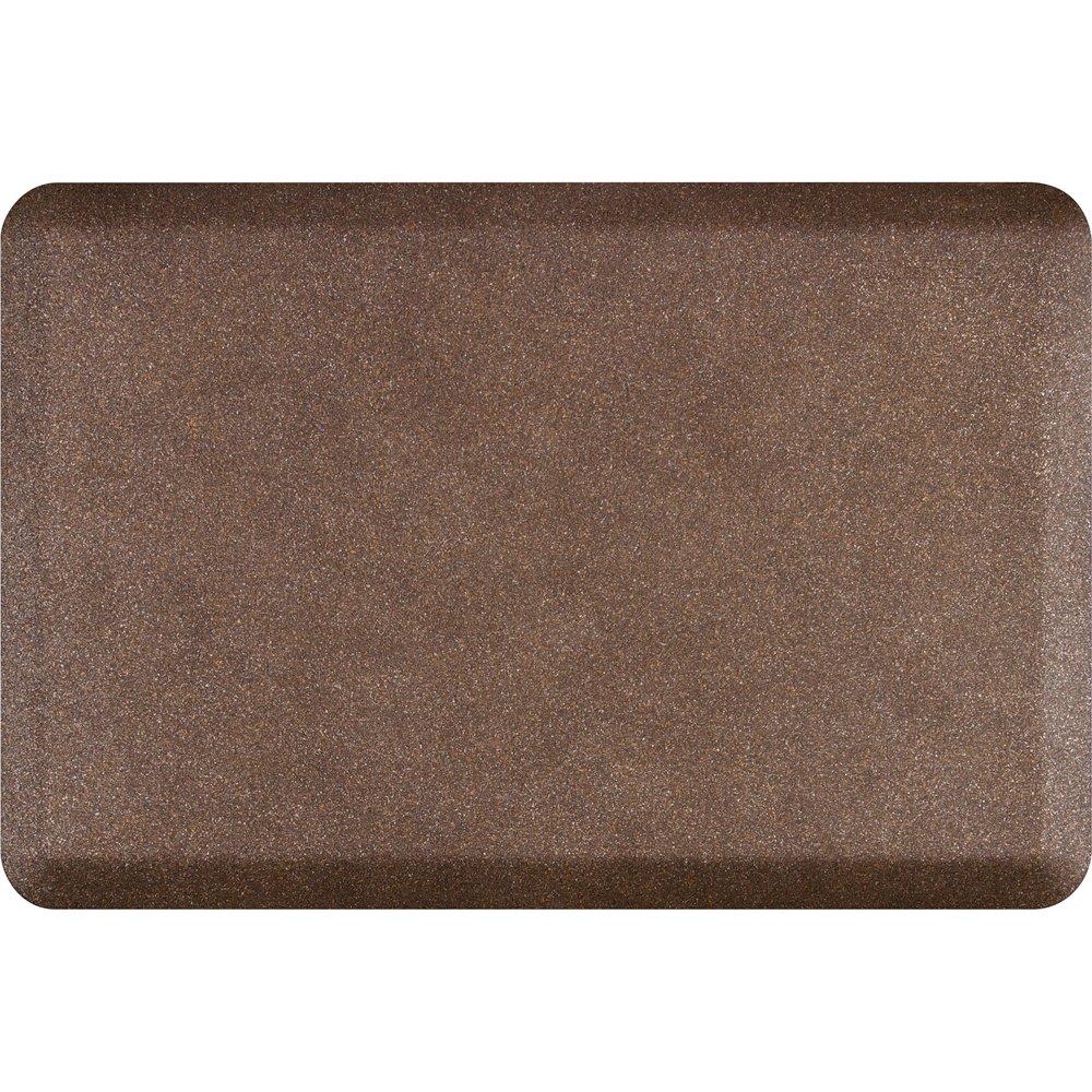 WellnessMats Anti-Fatigue 36 Inch by 24 Inch Granite Motif Kitchen Mat, Copper