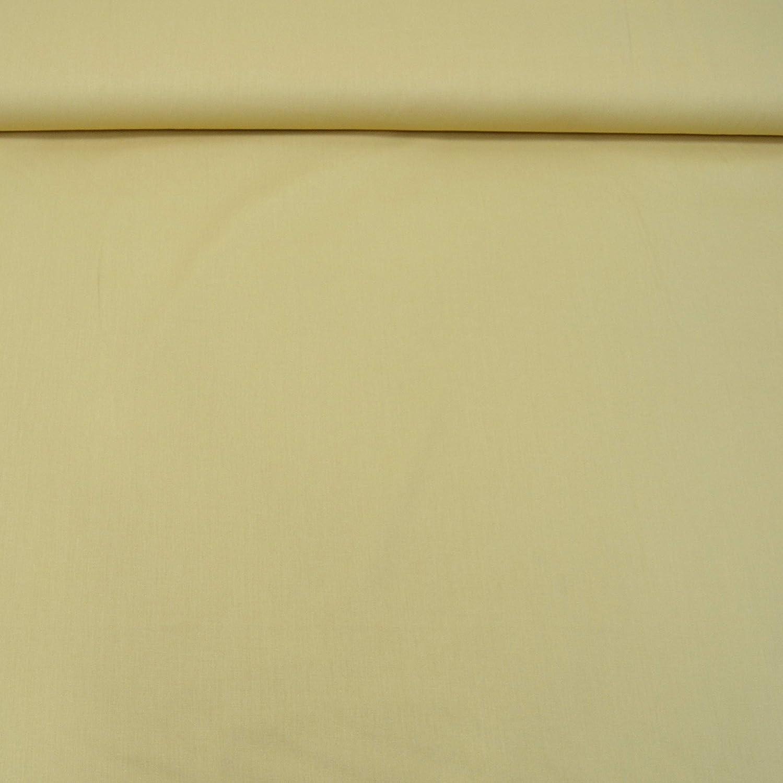 03. Gelb MAGAM-Stoffe Sophie Baumwollstoff Uni 100/% Baumwolle Oeko-Tex Meterware 50cm