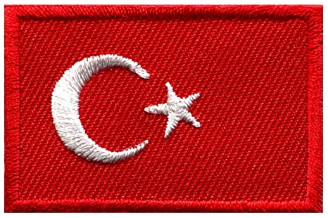 Bandera de Turquía turco Star Crescent Moon bordado Applique Iron-on Patch. Pasa ...
