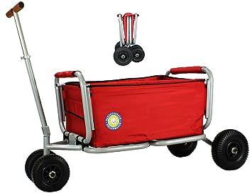 Favorit Beachtrekker Life Farbe rot Faltbarer Bollerwagen der UP61