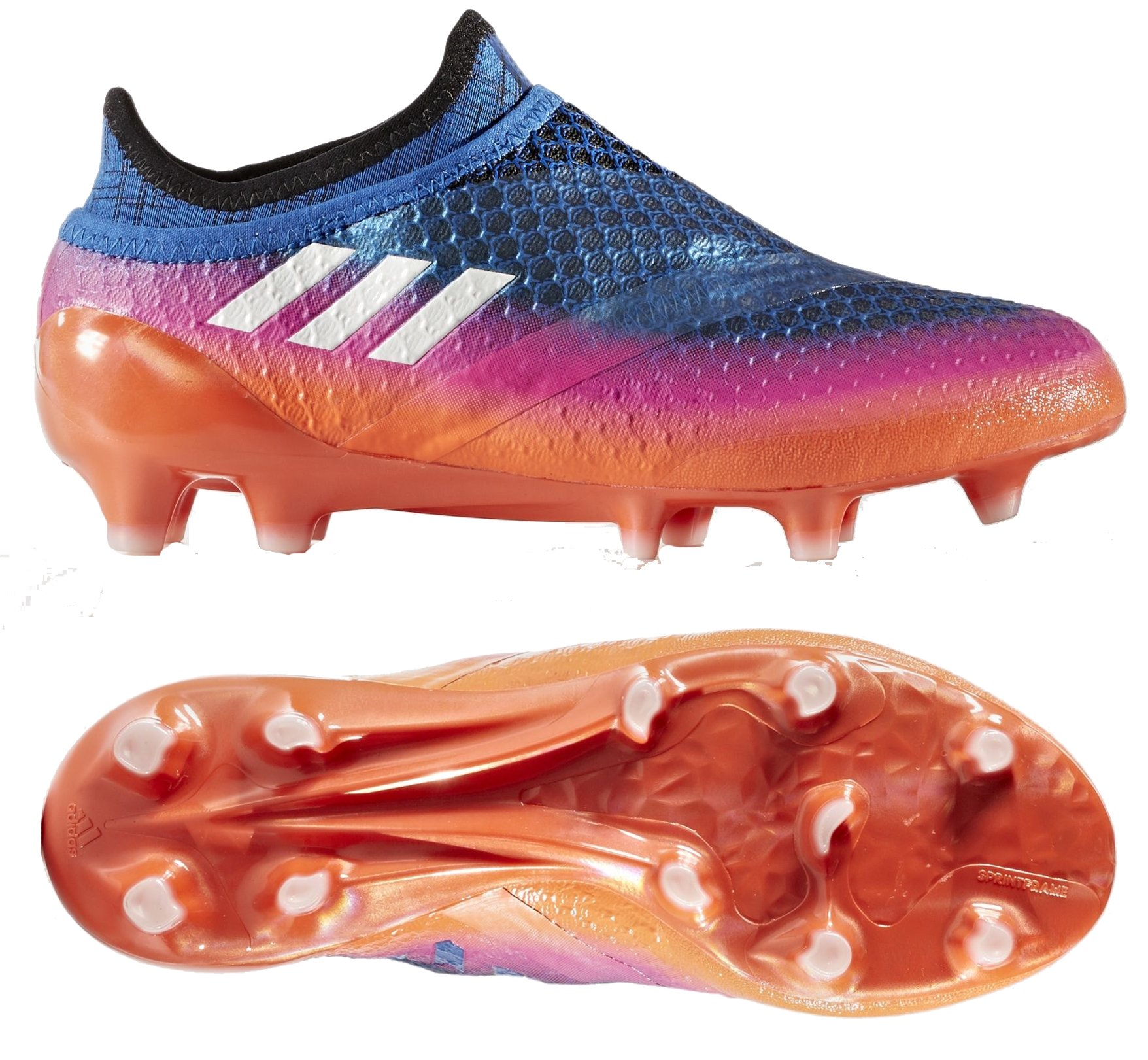 adidas Youth Soccer Messi 16+ Pureagility Firm Ground Cleats, 5.0 D(M) US, Blue / Running White / Black