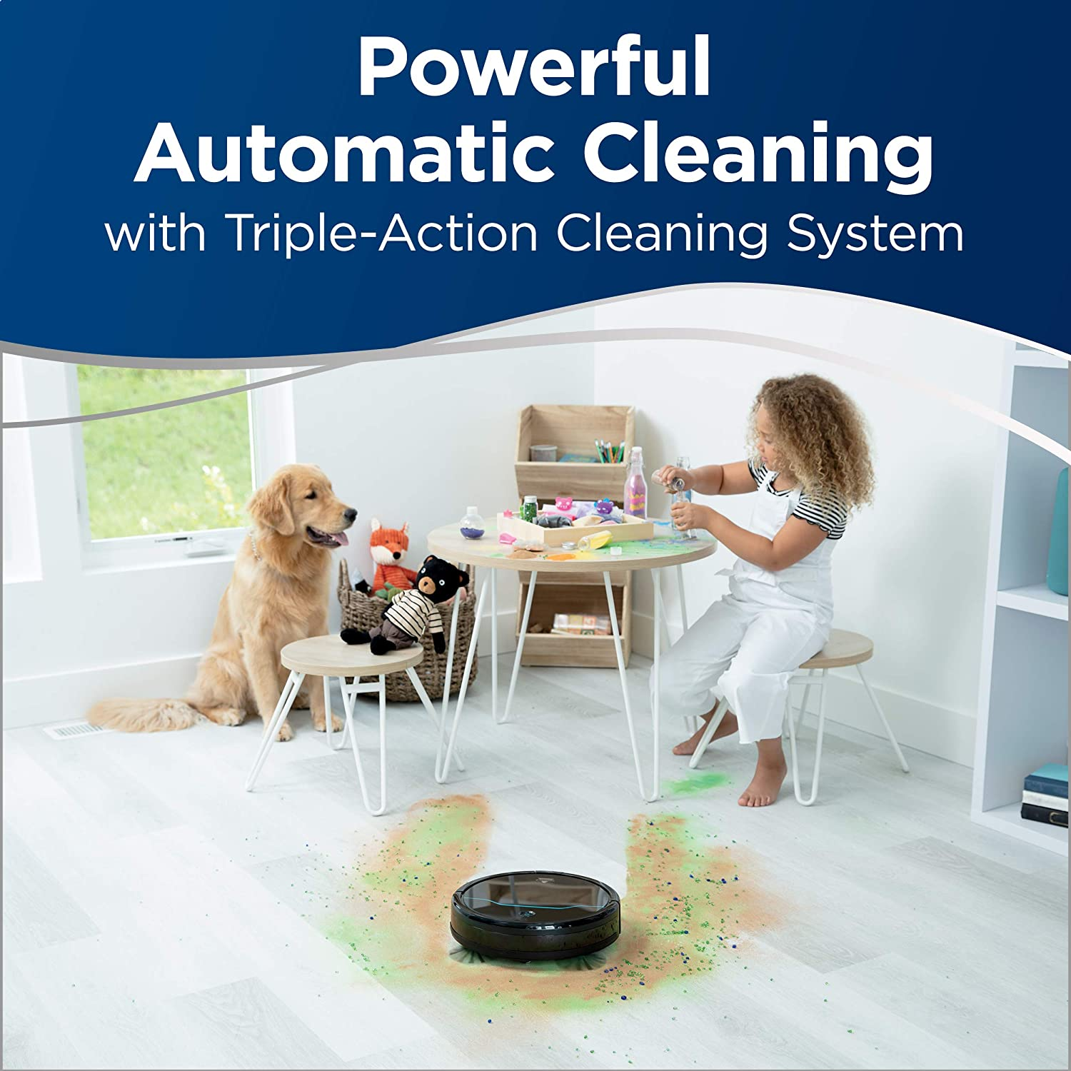 BISSELL EV675 Robot Vacuum Cleaner for Pet Hair with Self Charging Dock 2503 Black