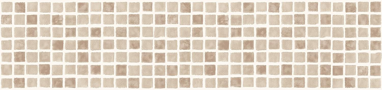 BHF FDB50038 Ceramica Mosaic Tile Kitchen and Bathroom Self Adhesive Border - Natural