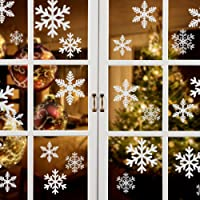Naler Schneeflocken Fensterbild Abnehmbare Fensterdeko Statisch Haftende PVC Aufkleber Winter Dekoration