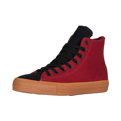 23d5d748cb46 Converse Ctas Pro Suede Backed Canvas Hi Alley Brick Black Gum 8UK   Amazon.es  Zapatos y complementos