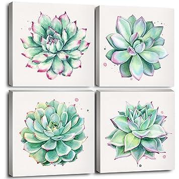 9e3df690c7a9d Home Wall Art Décor Succulent Plants Simple Life Canvas Oil Paintings  Posters Prints 12
