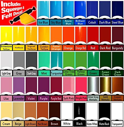 "60 Colors to choose from Roll Matte Vinyl Oracal 631 12/"" x 10ft"