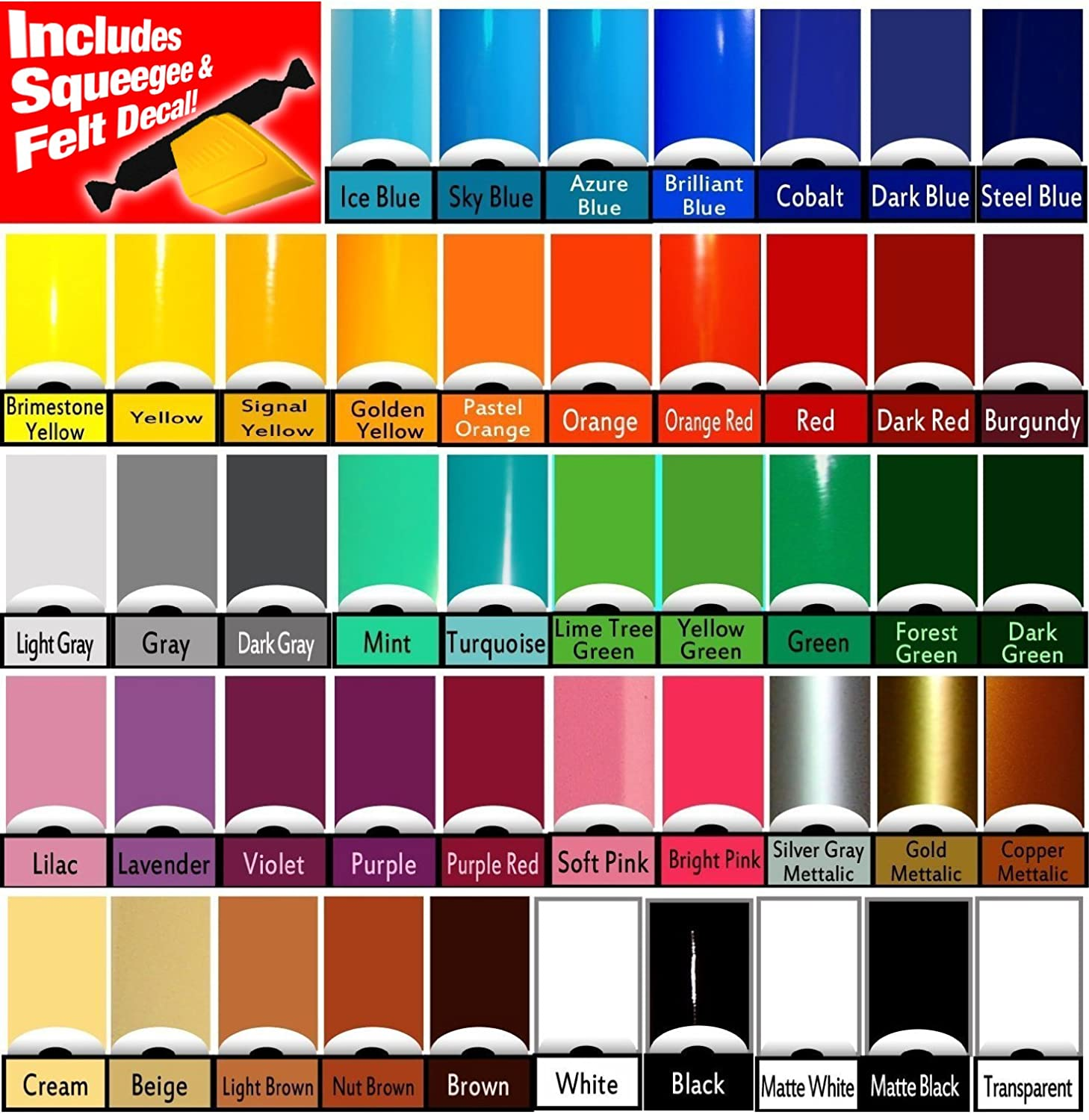5 Rolls ORACAL 651 Vinyl 12 x 60 Rolls Choose from 47 Colors Including Toolset