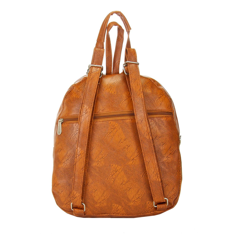 JG Shoppe Tan PU Backpacks Backpack  Amazon.in  Shoes   Handbags 59da729e34