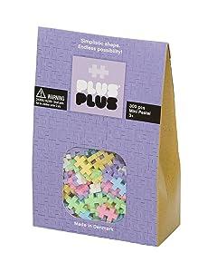 PLUS PLUS - Open Play Set - 300 Piece - Pastel Color Mix, Construction Building Stem Toy, Interlocking Mini Puzzle Blocks for Kids