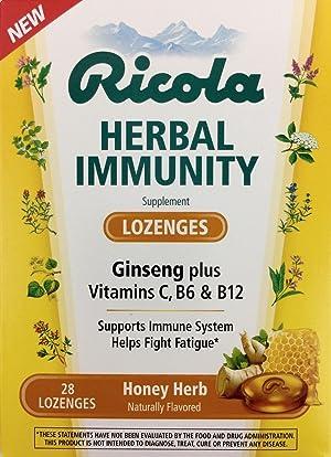 NEW-Ricola-HERBAL-IMMUNITY-LOZENGES-28-Ct-Ginseng-Vitamins-C-B6-B12-Honey-Herb
