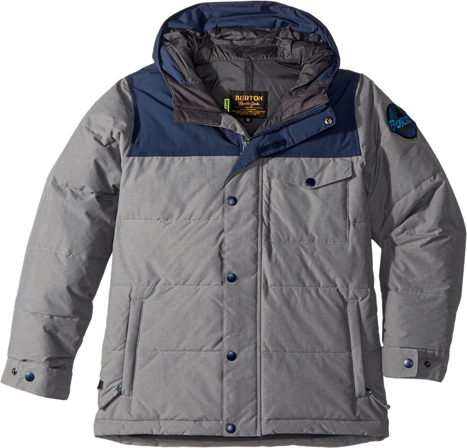 Burton Kids Boy's Barnone Jacket (Little Kids/Big Kids) Shade Heather/Mood Indigo Large