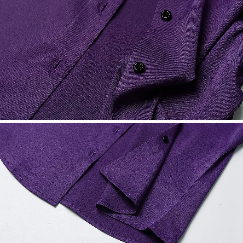 Camicetta Casual Blusa Chiusura Bottoni Slim Fit Formale Elegante in Fibra bamb/ù Camicia Shirt Ideale per Ufficio//Lavoro//Colloquio FLY HAWK Camicia Basic da Donna Manica Lunga