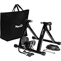 Alpcour Base Bicicleta Rodillo para Entrenar en Interiores - Soporte Magnético de Acero Inoxidable con 6 Niveles de Resistencia - Entrenador para Bicicletas de Ruta y Montaña - Incluye Funda