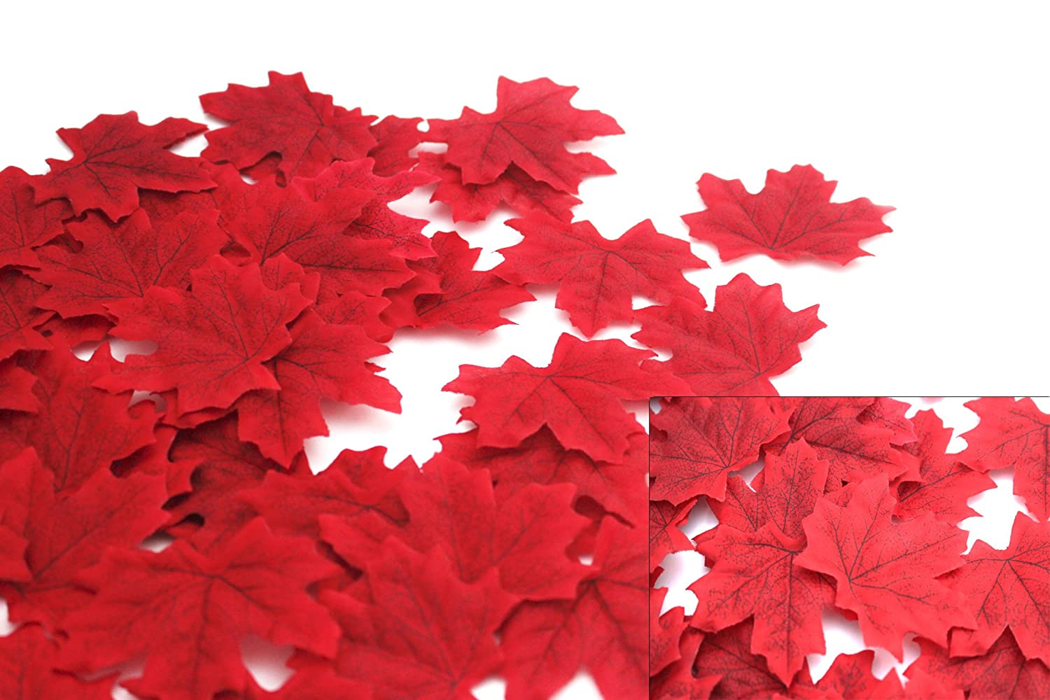 600 Assorted Mixed Deep Fall Colored Artificial Maple Leaves for Weddings, Thanks-Giving, Events and Outdoor Maple Leaf Cafe Decoration (600 Pieces) MerryNine