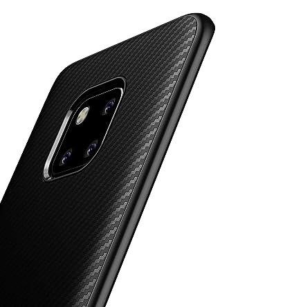 XINYUNEW Funda Huawei Mate 20 Pro,[Textura Fibra de Carbono] Carcasa Ligera Silicona Suave TPU Gel Bumper Case Cover Caso para Huawei Mate 20 Pro ...
