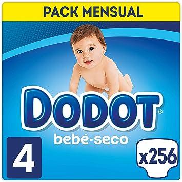 Oferta amazon: Dodot Bebé-Seco - Pañales Talla 4 (9-14 kg), 256 Pañales, El Unico Pañal Con Canales De Aire