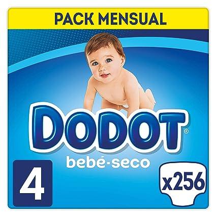 Dodot Bebé-Seco Pañales Talla 4, 256 Pañales, El Unico Pañal Con Canales De Aire, 9-14 kg