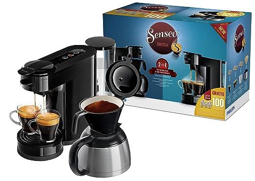 Philips 90736305 cafetera senseo, Acero Inoxidable, Negro ...
