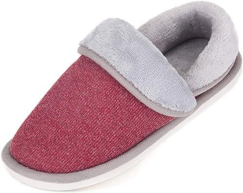 SAGUARO Mujer Hombres Zapatillas Otoño Invierno Interior Casa Caliente Slippers Suave Algodón Zapatilla Pareja Zapatos Rojo 40: Amazon.es: Zapatos y complementos