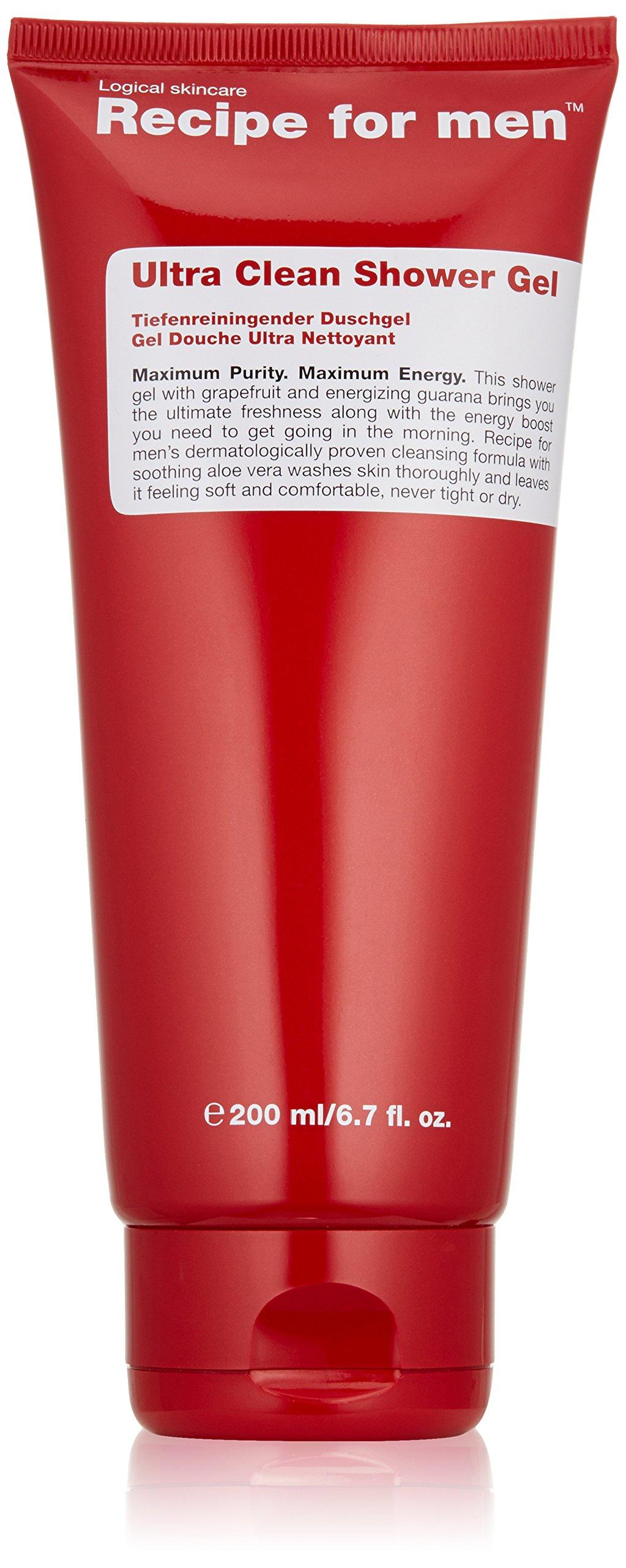 Recipe for Men Ultra Clean Shower Gel, 6.7 fl. oz.