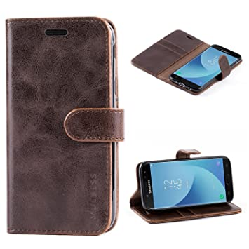 huge selection of 0fc20 c7aad Galaxy J5 (2017) Case,Mulbess Leather Case, Flip Folio Book Case, Money  Pouch Wallet Cover with Kick Stand for Samsung Galaxy J5 Duos (2017) SM ...