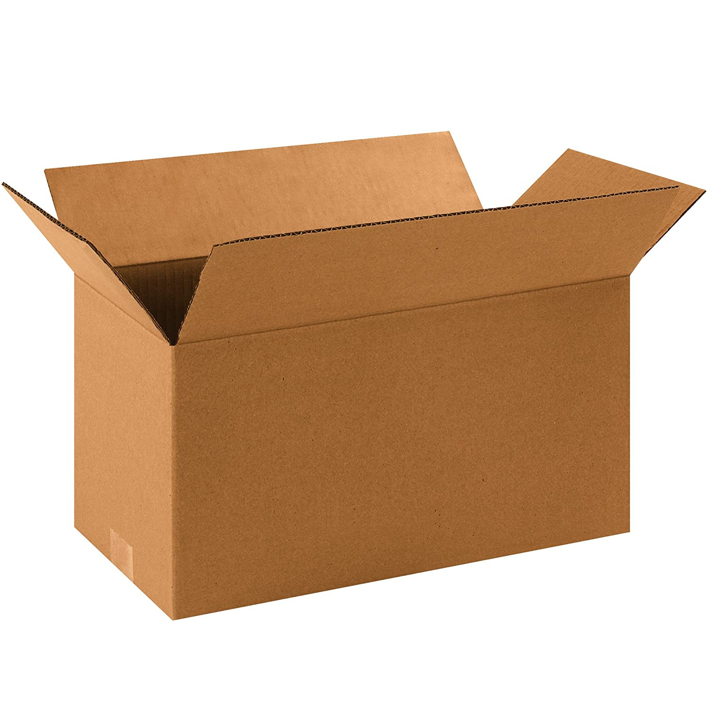 "Aviditi 1688 Single-Wall Corrugated Box, 16"" Length x 8"" Width x 8"" Height, Kraft (Bundle of 25)"