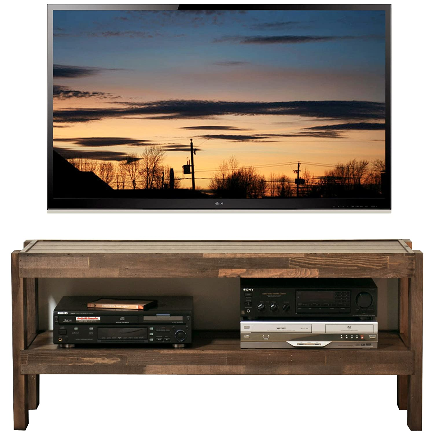 Rustic Reclaimed Barn Wood Style TV Stand – presEARTH Spice