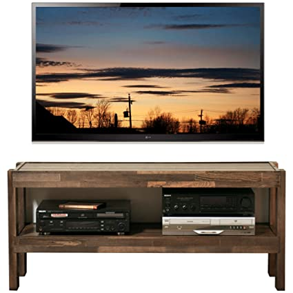 Amazon Com Rustic Reclaimed Barn Wood Style Tv Stand Presearth