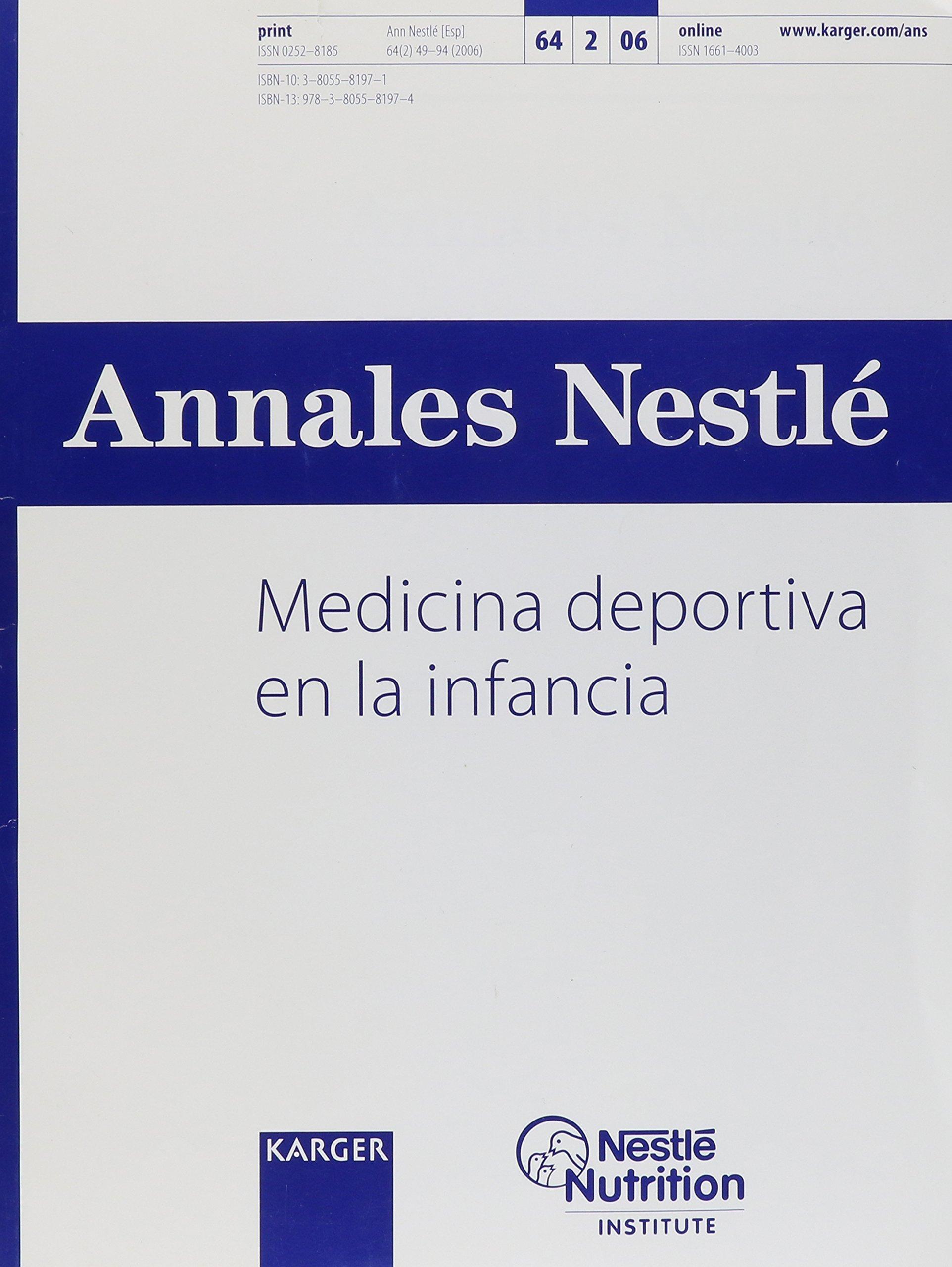 Download Medicina deportiva en la infancia: Special Issue, Annales Nestle 2006 (Spanish Edition) pdf epub
