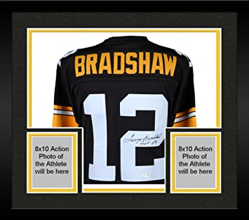 best service b2e19 47816 Framed Terry Bradshaw Pittsburgh Steelers Autographed ...