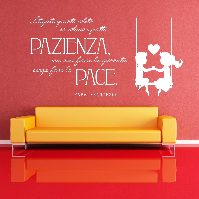 Adesiviamo 1221-L Papa Francesco Fate la Pace Wall Sticker Adesivo da Muro