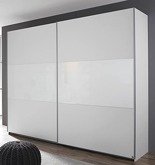 Rauch Humo Armario de Puertas correderas (2 Puertas Color Blanco/Cristal Blanco 218 x 210 x 59 cm: Amazon.es: Juguetes y juegos