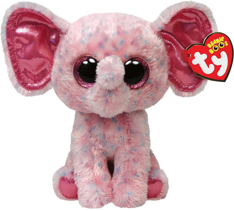Alaska Stuffed Animals, Amazon Com Ty Beanie Boos Ellie Pink Speckled Elephant Regular Plush Toys Games