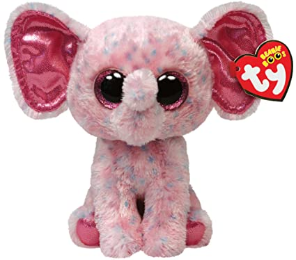 0fb77784527 Image Unavailable. Image not available for. Color  Ty Beanie Boos Ellie  Pink Speckled Elephant Regular Plush