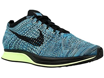 66b1527f7832f Image Unavailable. Image not available for. Color  Nike Men s Flyknit Racer  Running Shoes Blue Lagoon ...