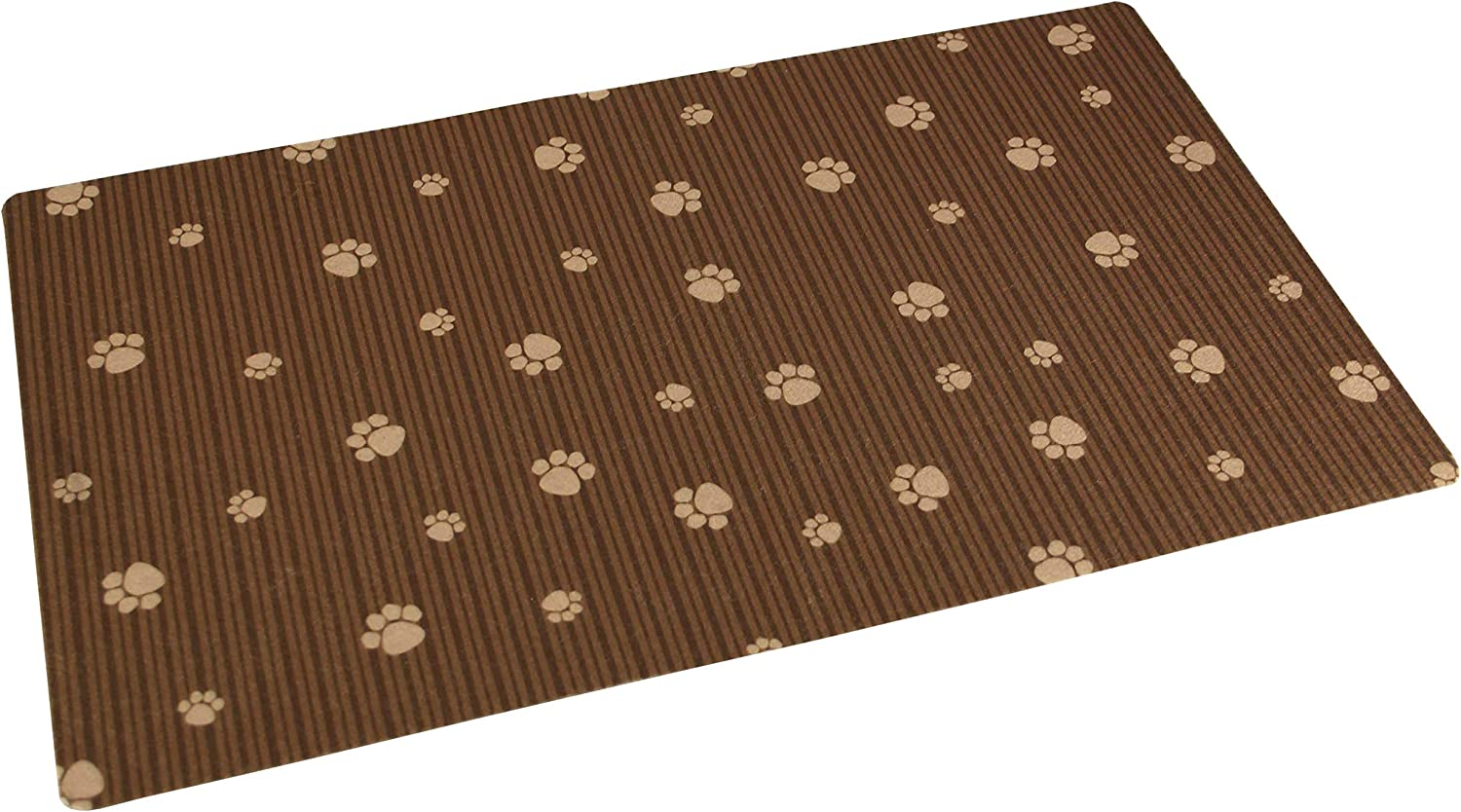 Drymate Small/Medium Pet Place Mat in Paw Stripe Design