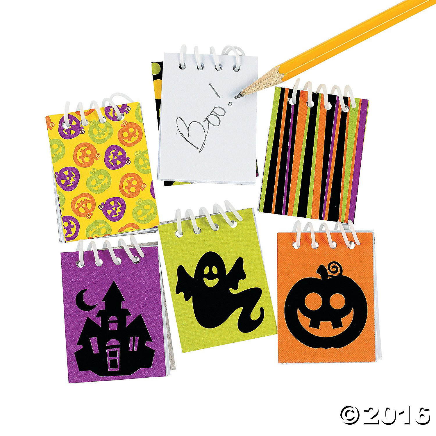 24 Mini Iconic Halloween Spiral Notepads