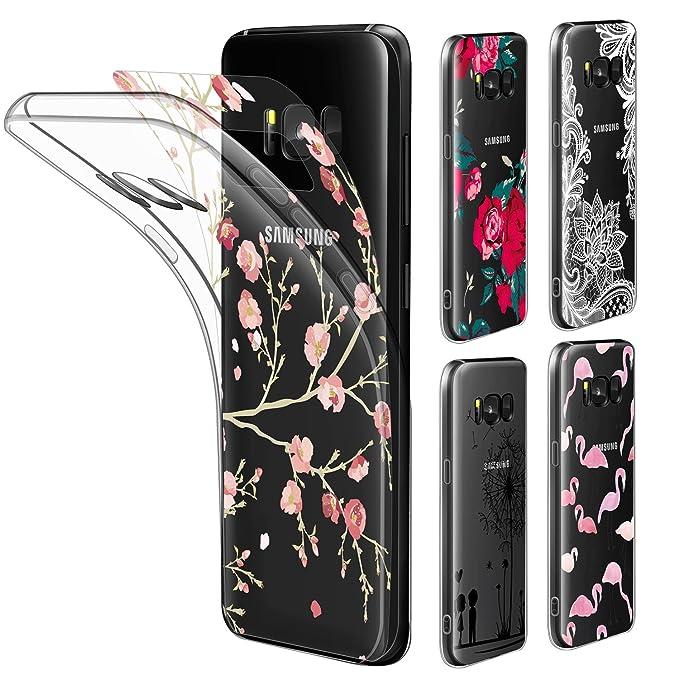 18 opinioni per Leathlux Custodia Galaxy S8 Cover Trasparente Morbido Silicone Cover Protettivo